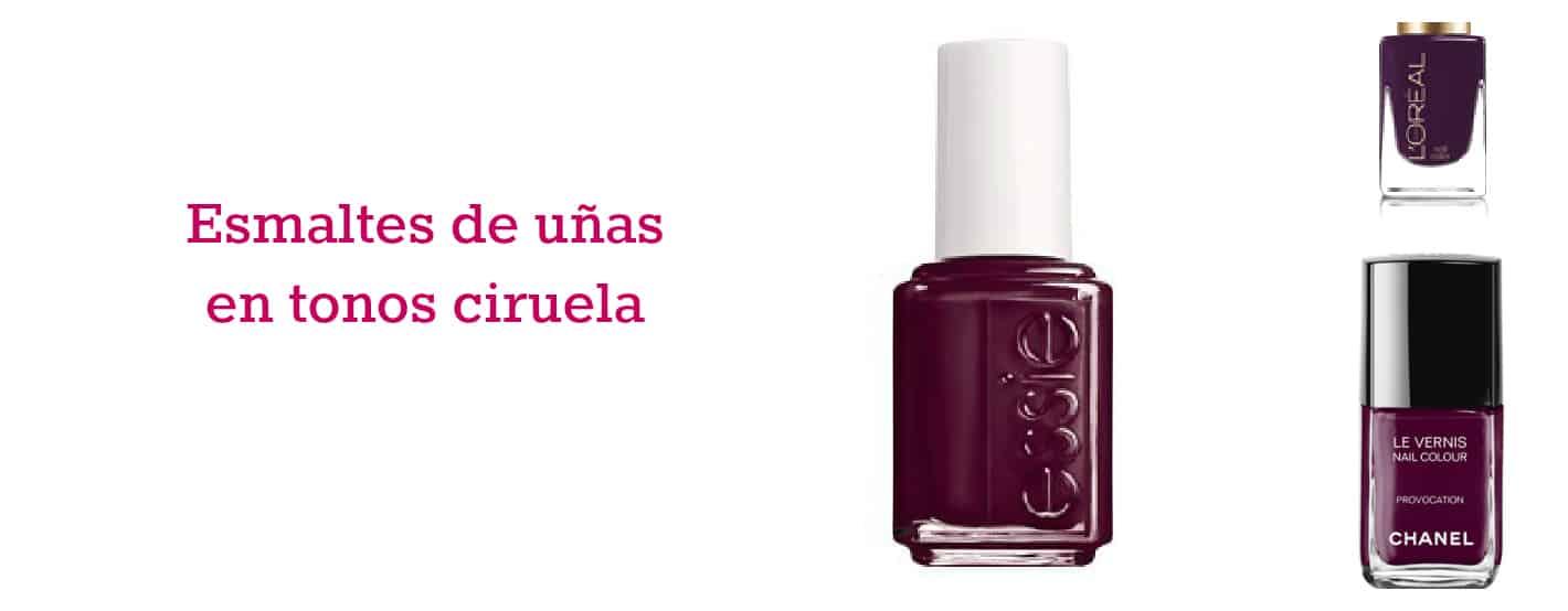 Colores ciruela de esmaltes de uñas