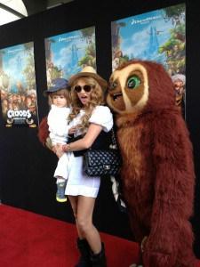 Paulina Rubio en la alfombra roja de The Croods