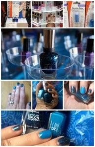 Esmaltes de uñas en tonos azules
