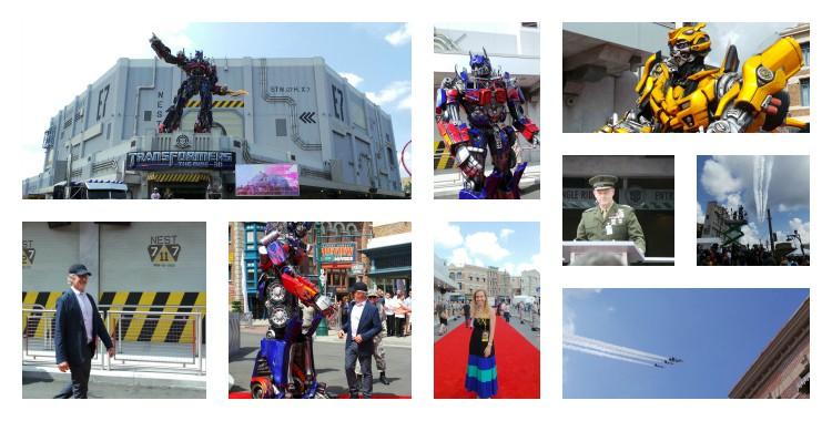 Inauguracion Transformers Universal orlando
