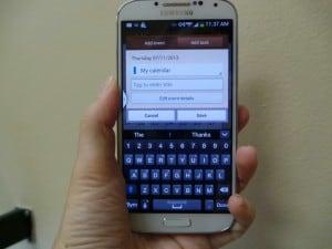 Calendario del samsung Galaxy S4