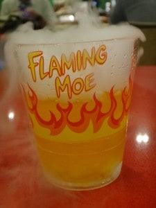 Flaming Moe en Los Simpsons de Universal Studios