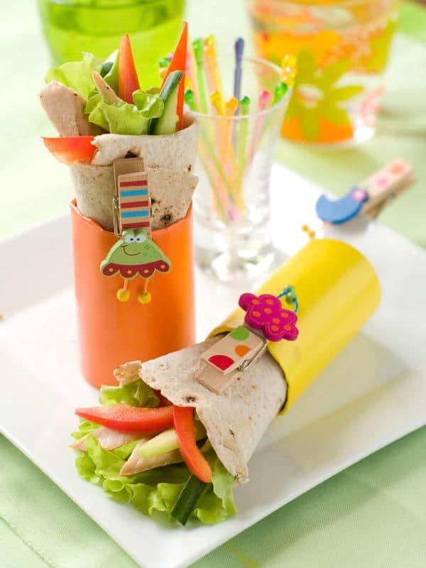 Receta vegetariana de wraps de vegetales con miel