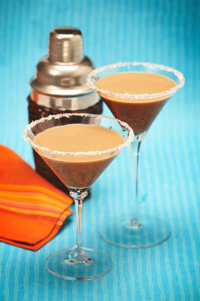 Martini de café para el día de los muertos