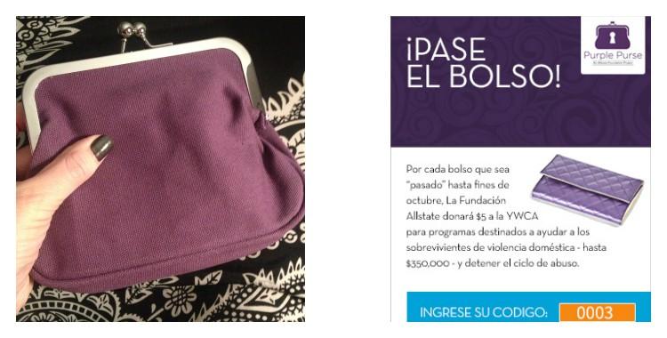 Pasa el bolso y ayuda a evitar la violencia doméstica #purplepurse