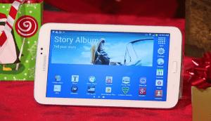 Regalos de tecnología como un tablet Samsung son bienvenidos por todos