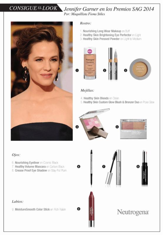 Cómo obtener el look de Jennifer Garner en los premios SAG 2014
