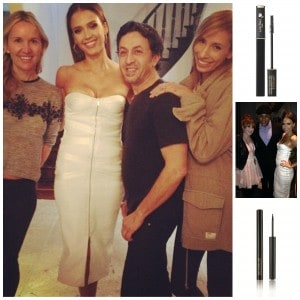 Jessica Alba y su equipo de maquillaje para los People's Choice Awards