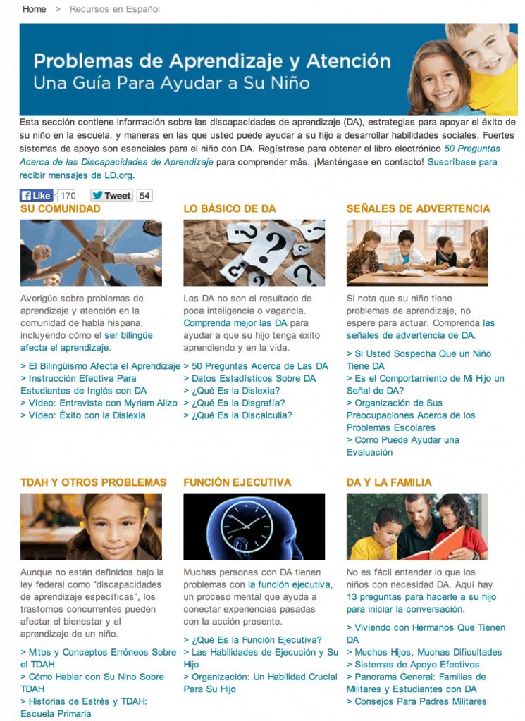 Sitio de internet con ayuda para niños con problemas de aprendizaje