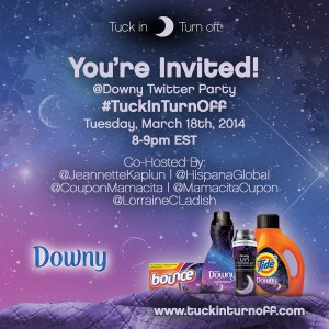 Downy Twitter Party #tuckinturnoff