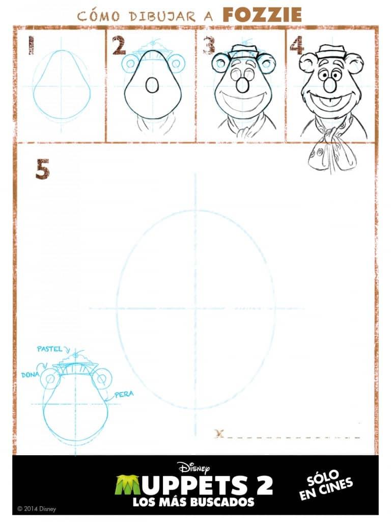 Cómo dibujar Fozzie de los Muppets