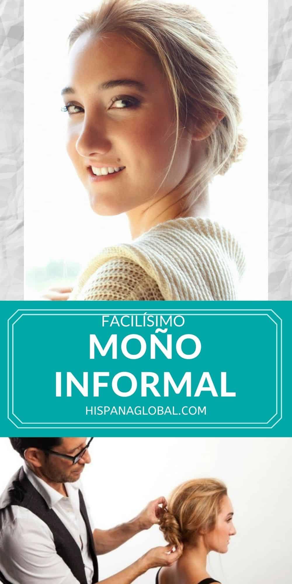 Aprende cómo hacer un bello y romántico moño o recogido informal con las instrucciones paso a paso dell estilista de celebridades Marco Peña.