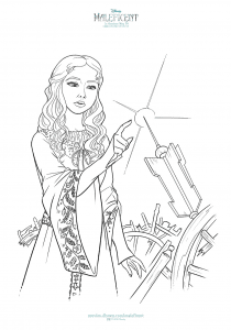 Aurora coloring sheet