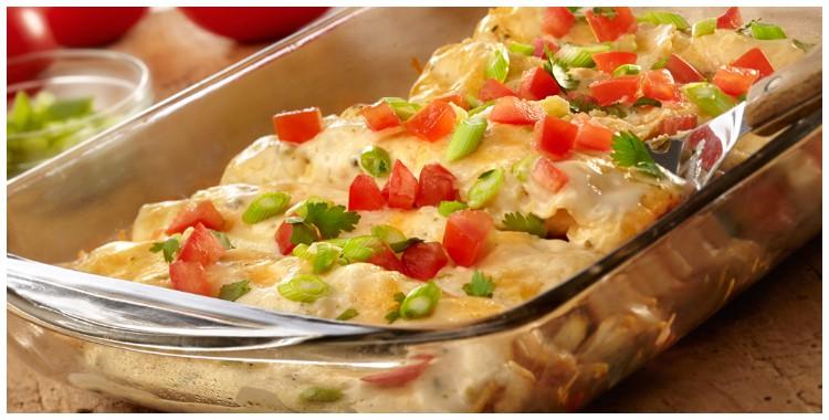 Receta de enchiladas de pollo con queso y chile poblano