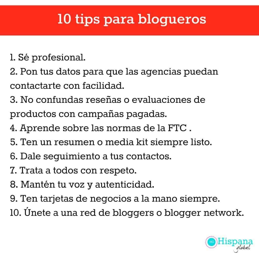 10 tips para blogueros