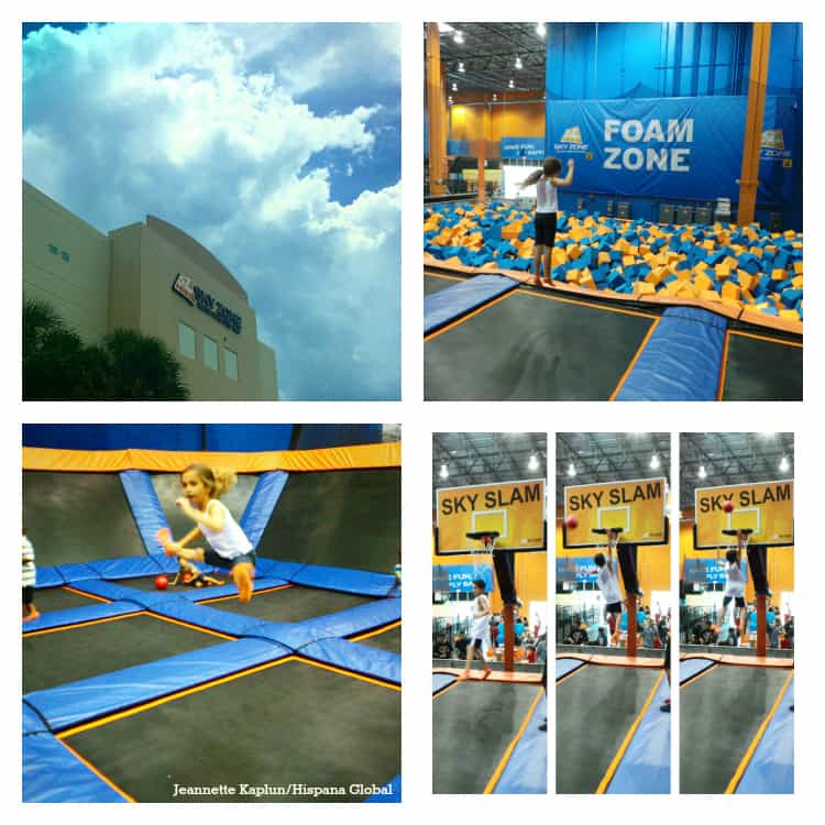 Todos a brincar en Sky Zone