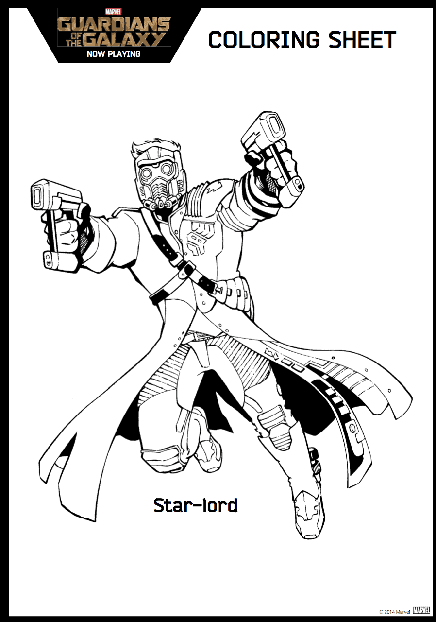 Coloring Pages Guardians Of The Galaxy : Guardians of the galaxy coloring sheet hispana global
