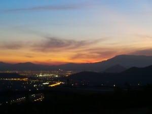 Puesta de sol en Santiago, Chile