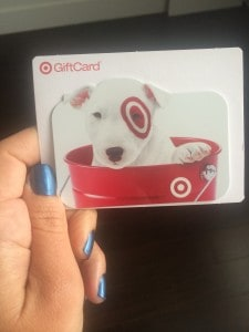 tarjeta de regalo de target