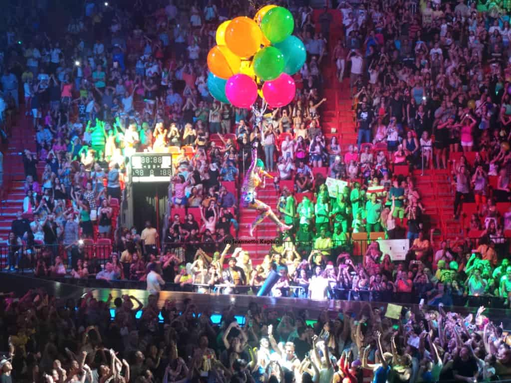 Katy Perry singing birthday with balloons