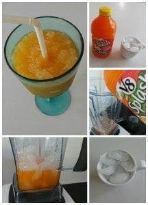 Raspadilla de jugo de zanahoria y naranja