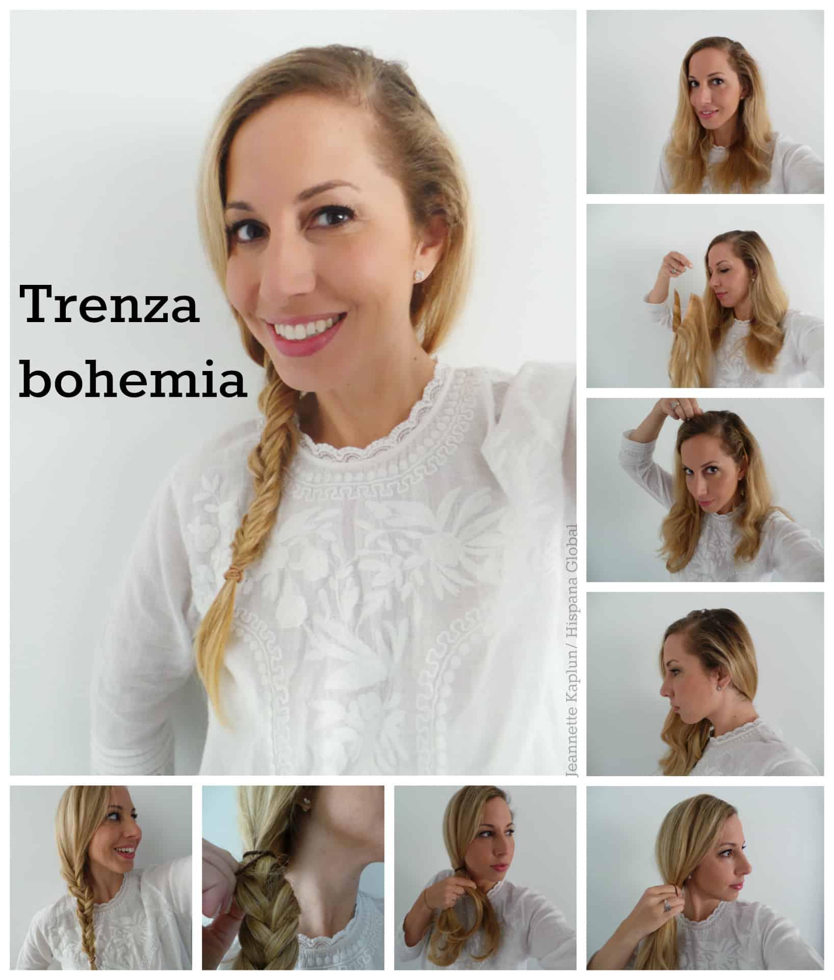 Como hacer trenzas de cabello recogido