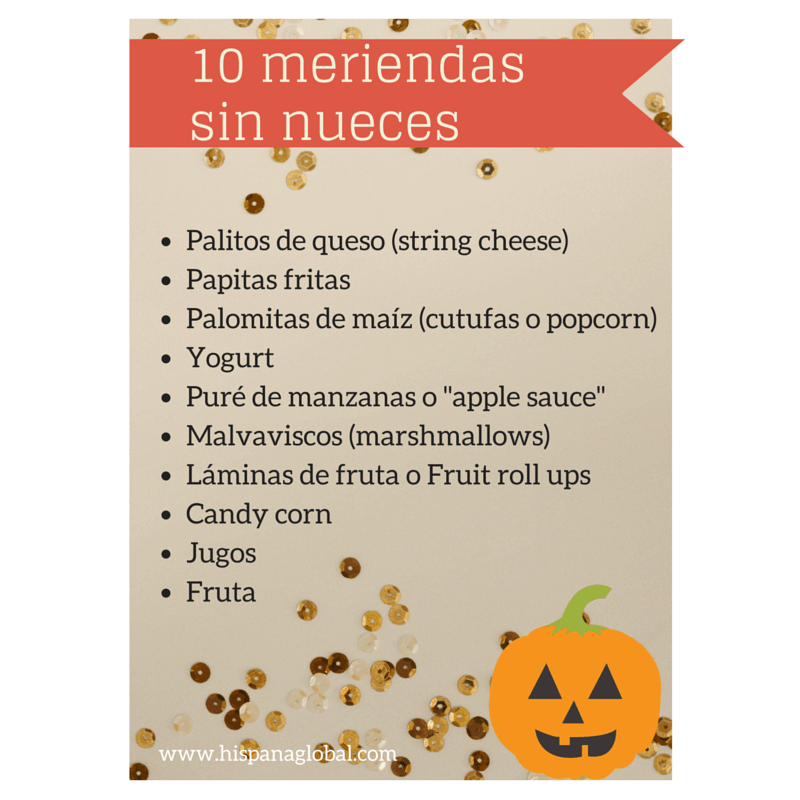 10 meriendas sin nueces para Halloween