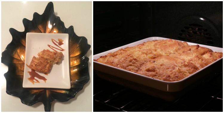 Receta deliciosa de budín de pan de maíz con dulce de leche