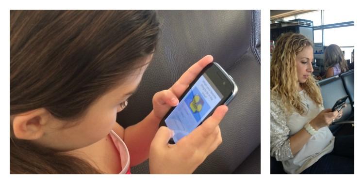 Teléfono inteligente e hijos