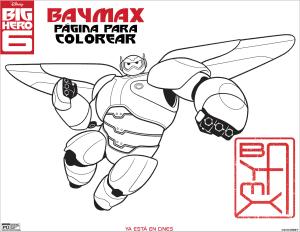 baymax figura para colorear big hero 6