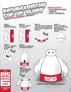 baymax hecho con globo big hero 6
