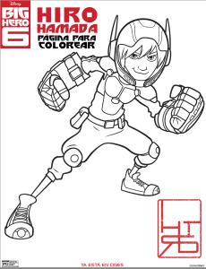 hiro hamada dibujo para colorear big hero 6