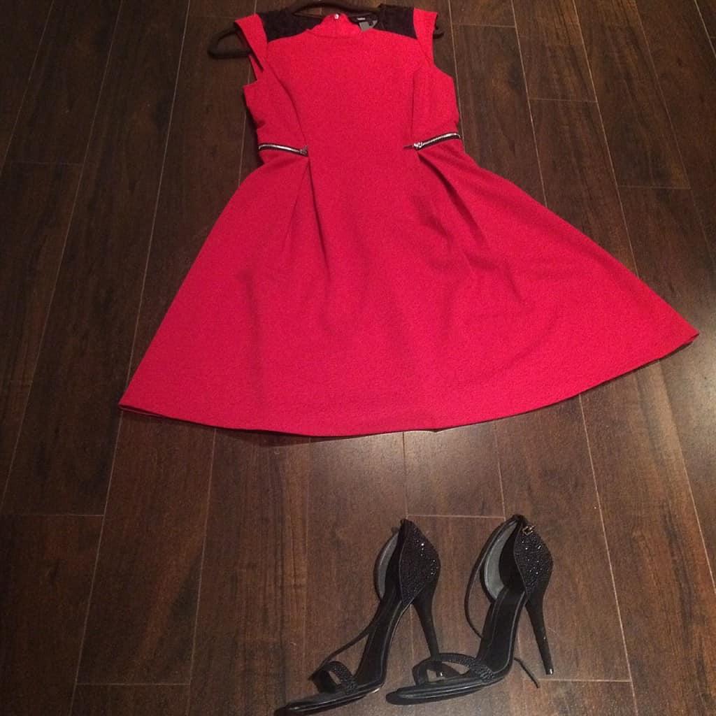 vestido rojo para las fiestas