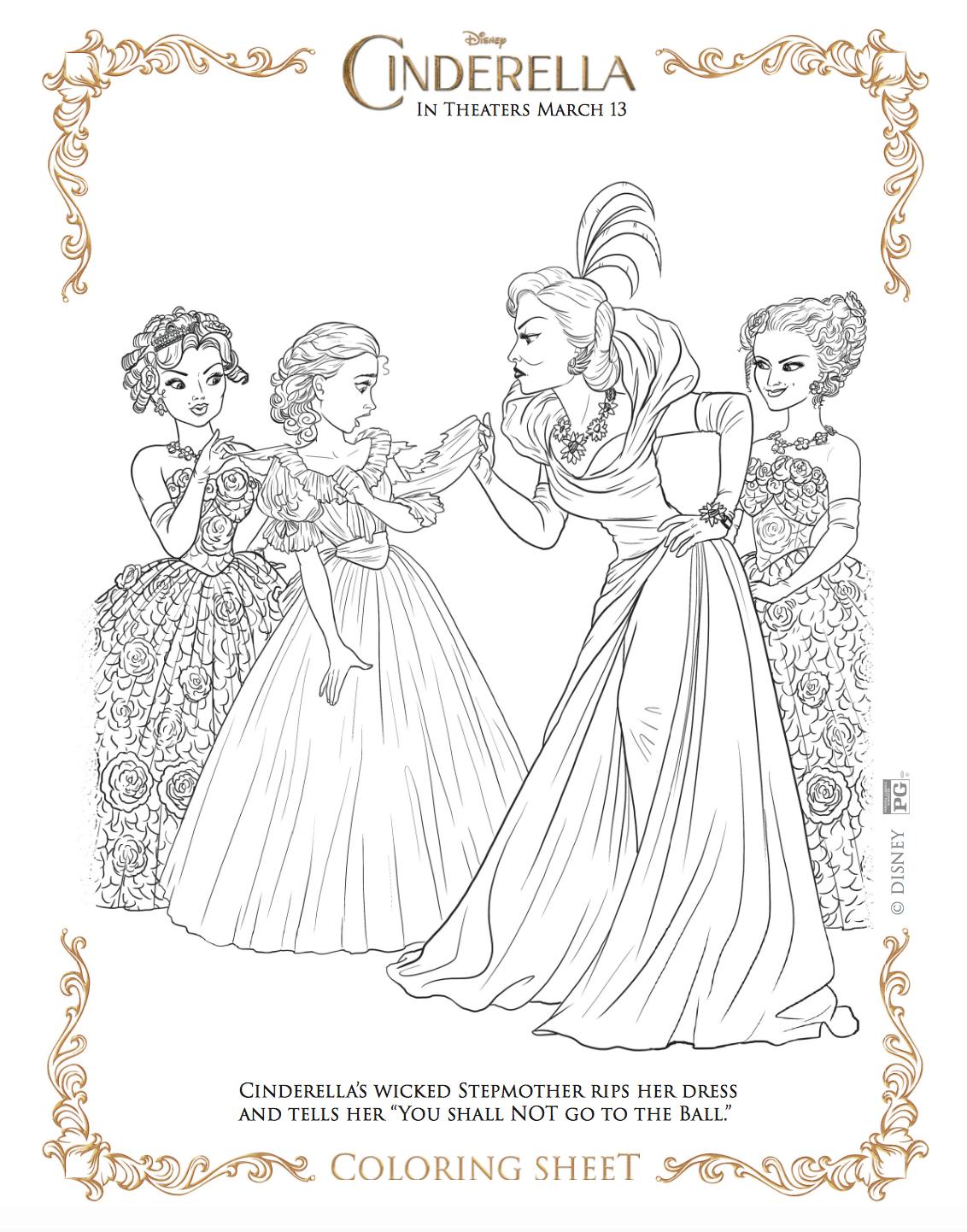 Dibujos Gratis Para Colorear De La Cenicienta O Cinderella Hispana