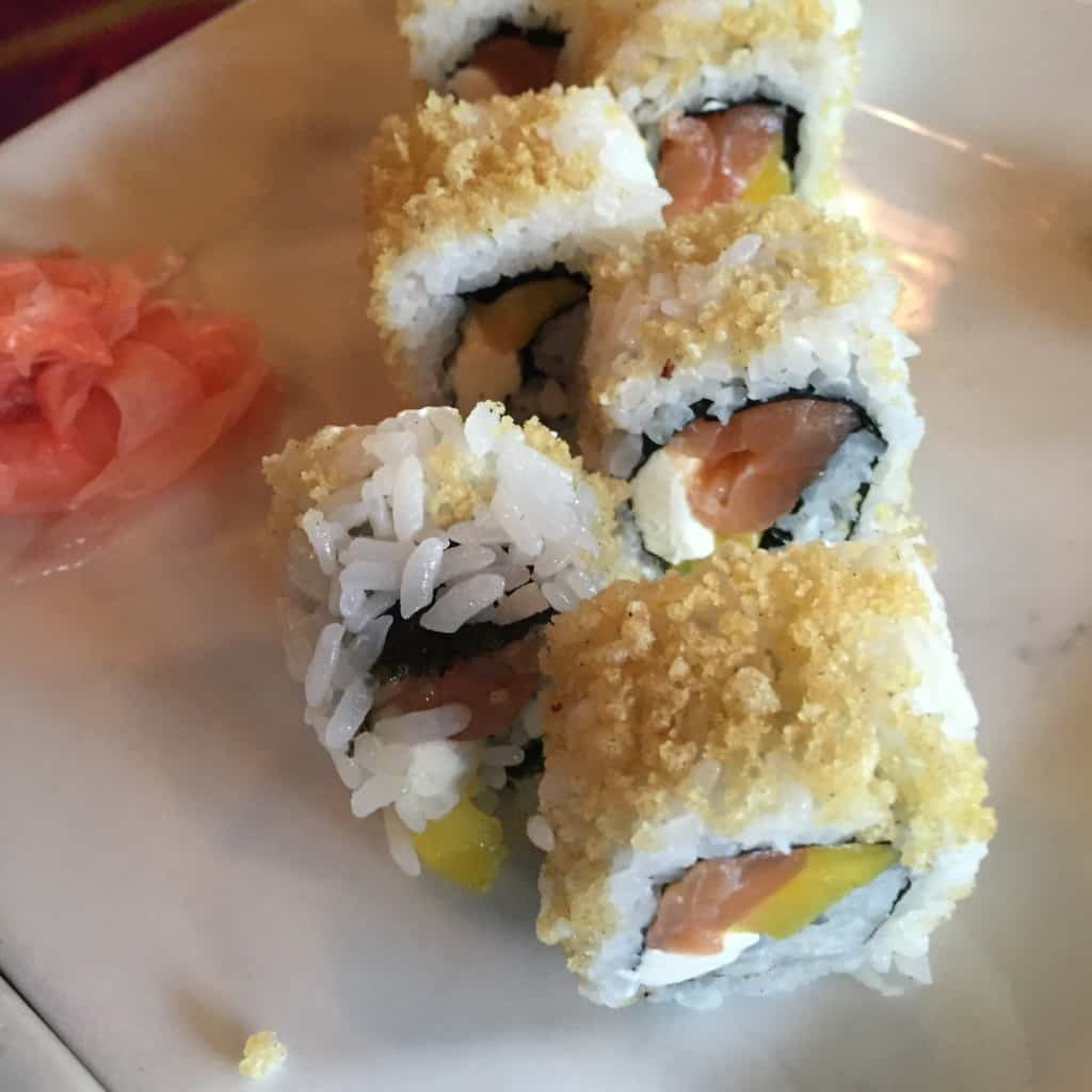 Sushi en Kona Café en Disney World