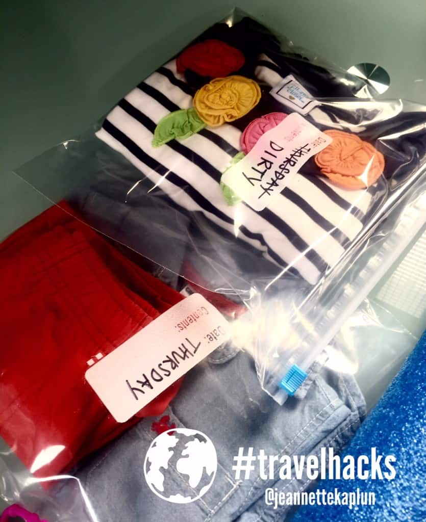 Ropa en bolsa Clothes in bags #travelhacks
