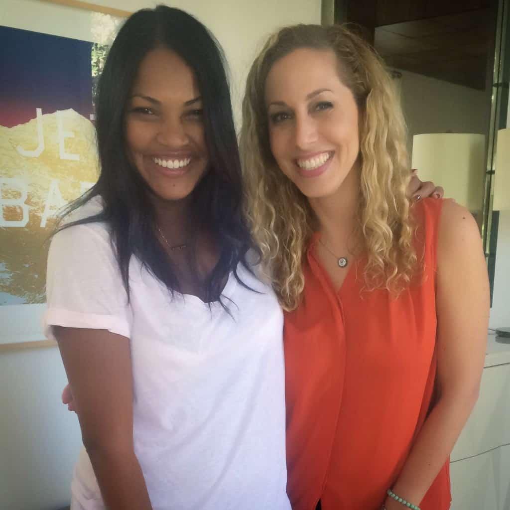 Con mi amiga y vestuarista Tracy Robbins