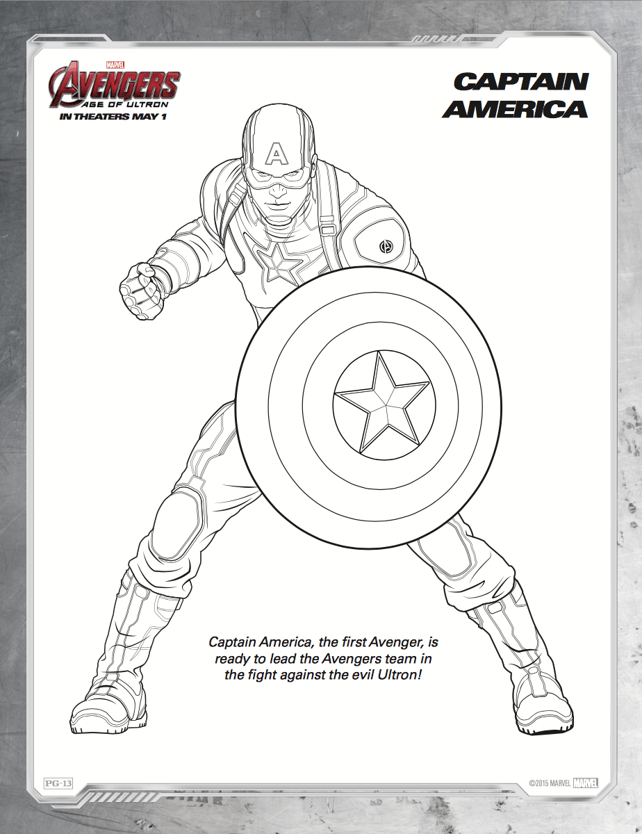 Dibujos para colorear de Avengers: Era de Ultrón - Hispana Global