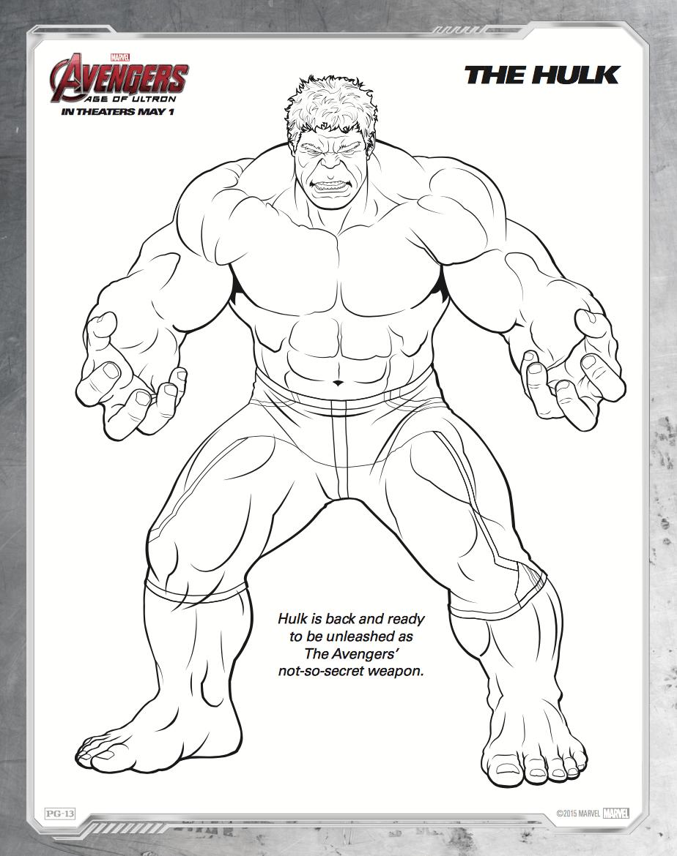 Dibujos Para Colorear De Los Vengadores En El Ordenador ~ Ideas ...