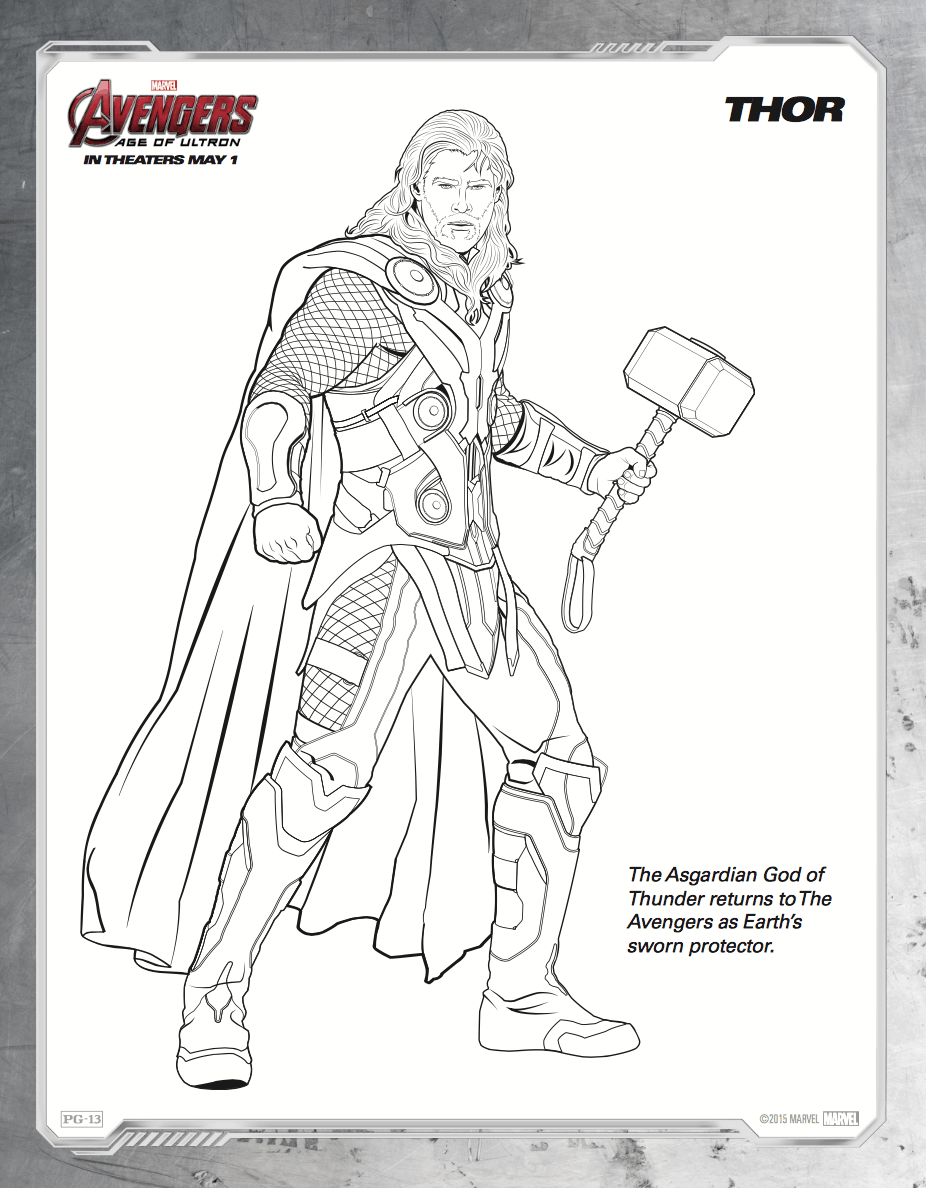 Avengers Age Of Ultron Colouring Pages | Coloring Page