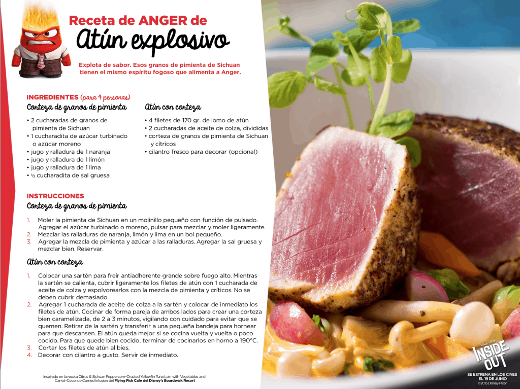 receta atun sellado de inside out