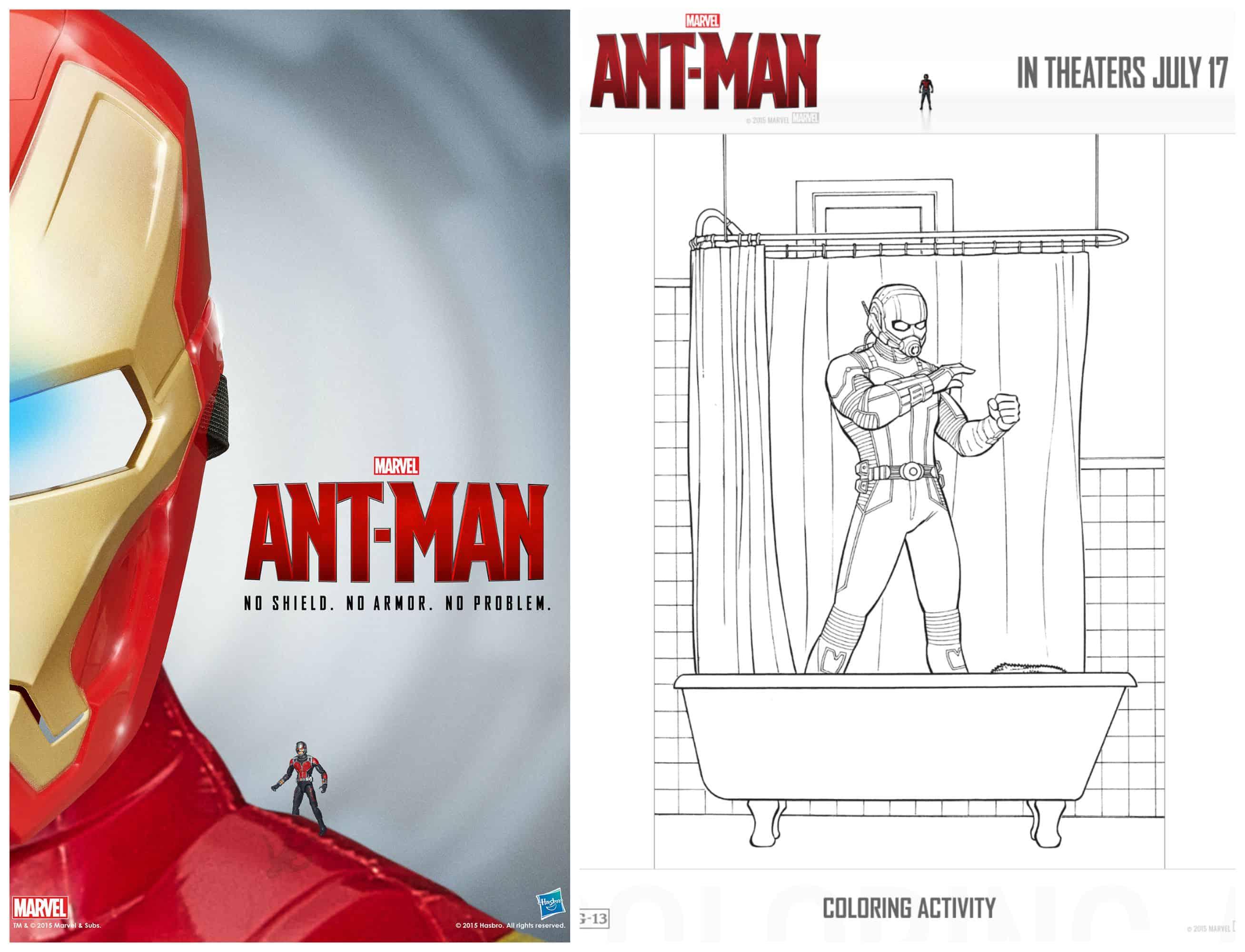 Dibujos Para Colorear Gratis De Antman El Hombre Hormiga Hispana