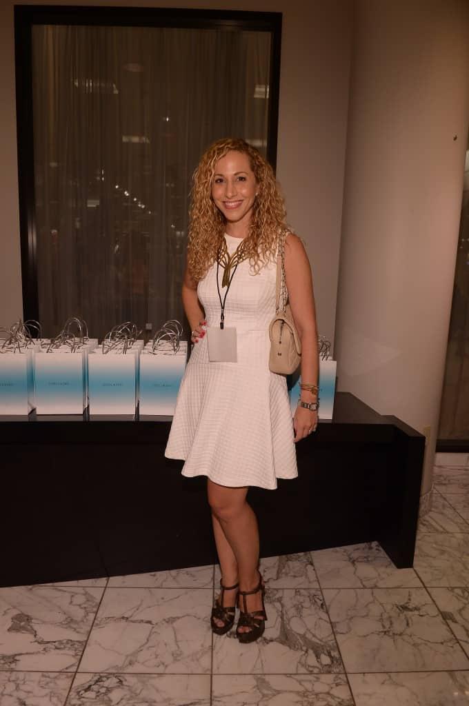 Jeannette kaplun en evento de Eva Mendes