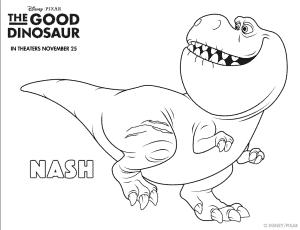Figuras Para Colorear Gratis De Un Gran Dinosaurio Hispana