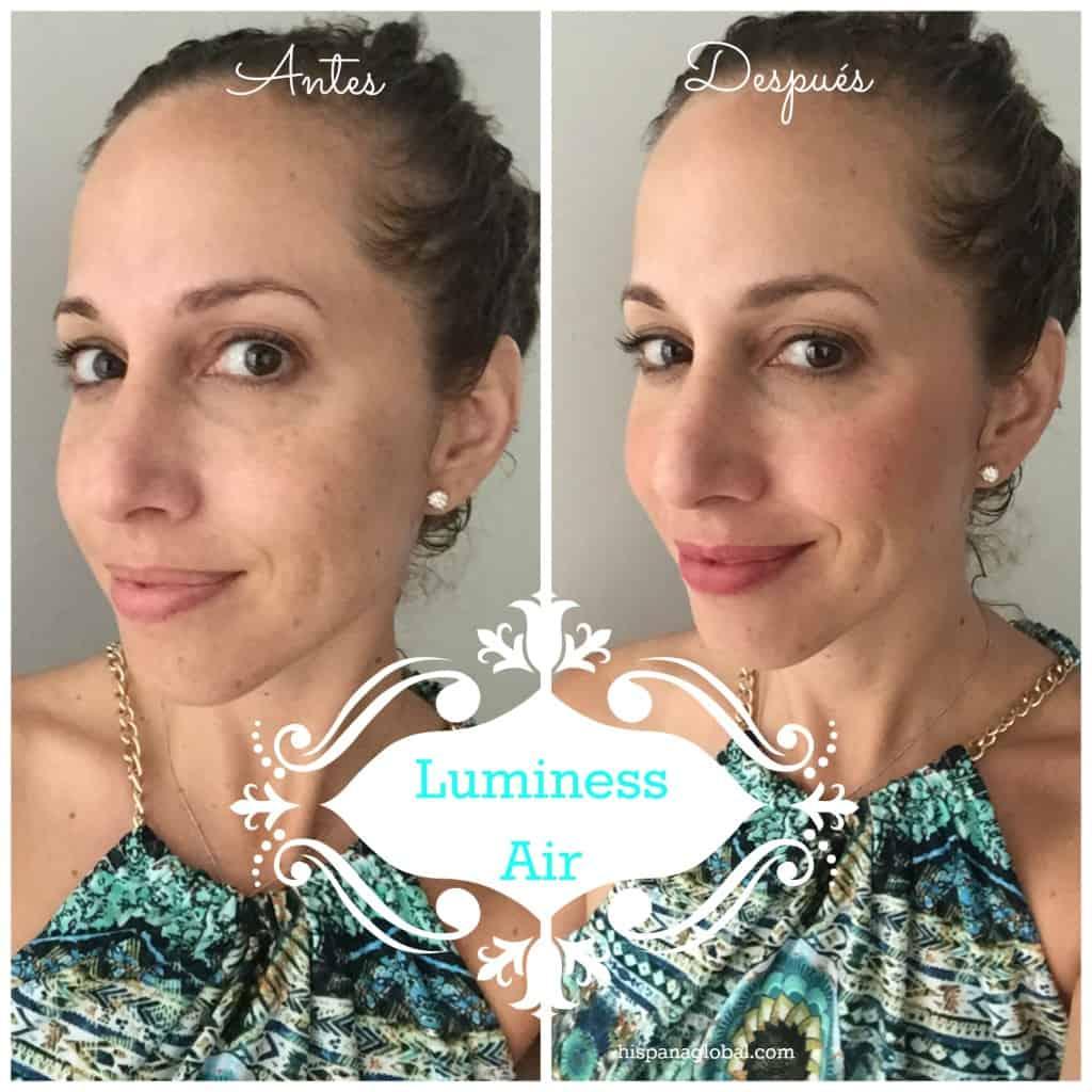 Antes y después con luminess air