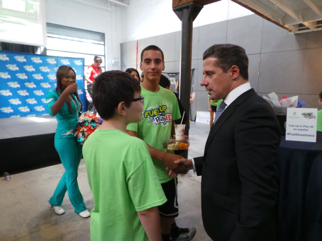 Superintendent Alberto Carvalho and student from Hialeah Gardens