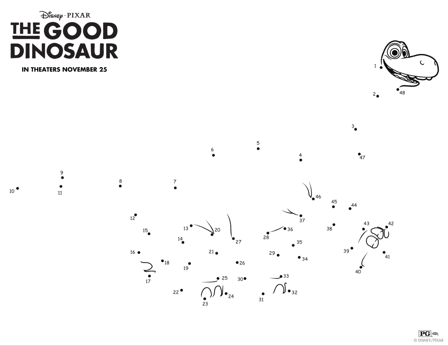 Actividades de Un Gran Dinosaurio para divertir gratis a los niños ...