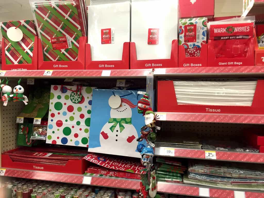 Walgreens cajas y papel de regalo navidad
