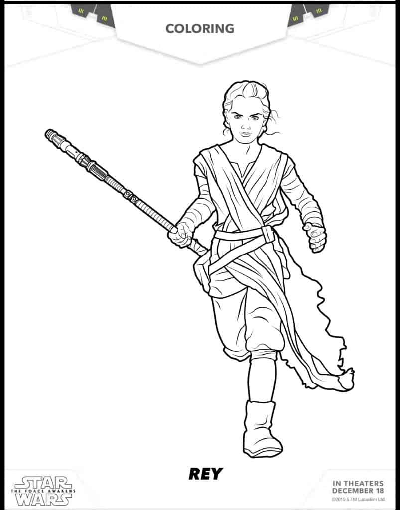 Tey dibujo para colorear de Star Wars