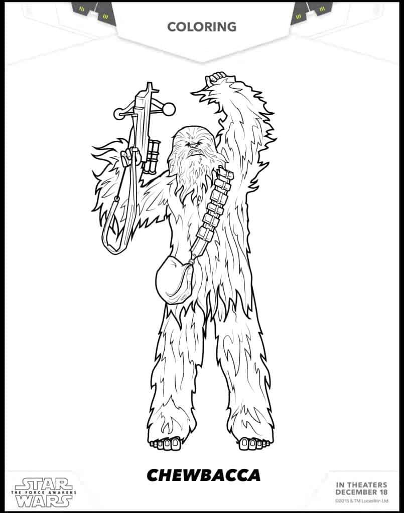 Chewbacca dibujo para colorear gratos